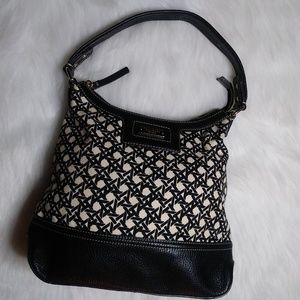 Kate Spade Black and White Canvas/Leather Purse